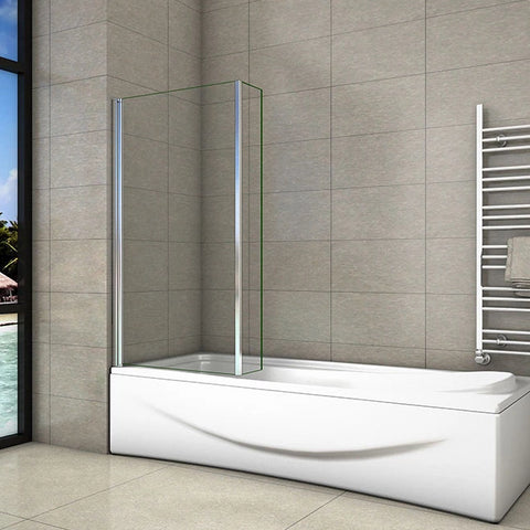 800mm+150mm Pivot Double Panel Shower Bath Screen