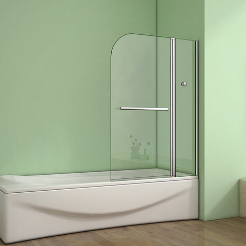 1000x1400mm 180 degrees Pivot Shower Bath Screen Easyclean Glass