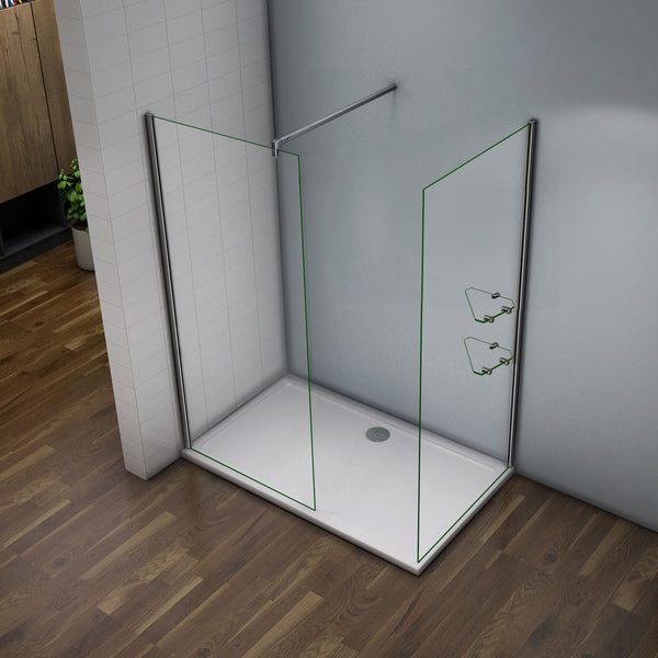 70-120cm x 185cm Walk in shower screen EasyClean