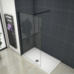 70-120cm Wet Room Shower Panel screen 8mm glass 185cm height + Nano EasyClean Tempered Clear Glass
