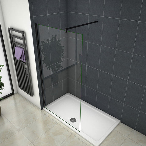 70-120cm Wet Room Shower Panel screen 8mm glass 185cm height + Nano Explosion-proof Membrane