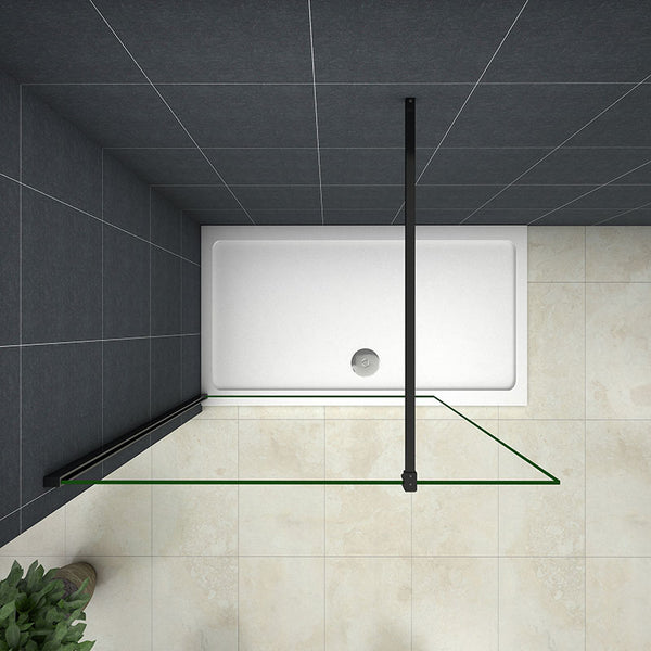 700-1400mm Wet Room Shower screen,8mm NANO glass,1850 1950 2000 Height