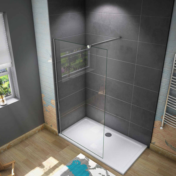 700-1400mmx1950 Walk in shower screen 8mm EasyClean glass Various sizes Optional