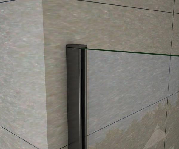 Walk In Shower Screen 8mm Nano Easy Clean Tempered Clear Glass Wet Room Shower Panel