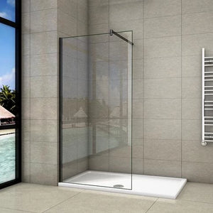 700-1400mm Walk in Wet Room Shower screen,8mm Easyclean glass,1850 1950 2000 mm Height