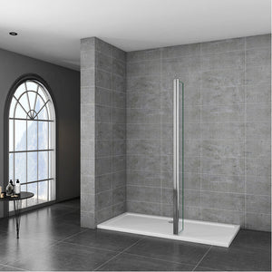 300mm Flipper Panel 8mm Walk in EasyClean NANO Glass Wet Room Shower Screen
