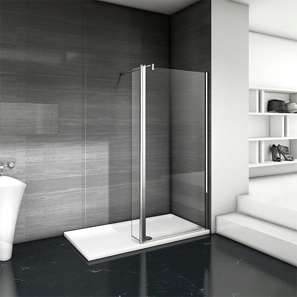 Shower Enclosure 70-140cm+30cm Screen Panel 8mm NANO Glass 200cm Height