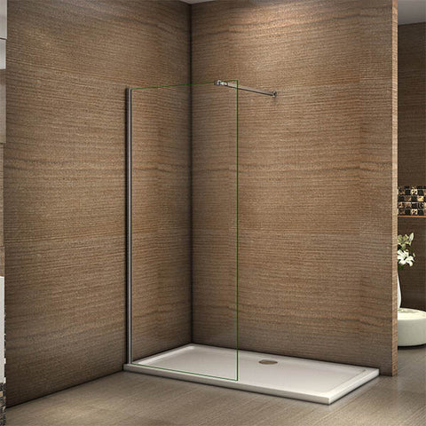1850mm Walk In Shower Enclosure Wet Room Door Screen Panel 6mm Easyclean Glass