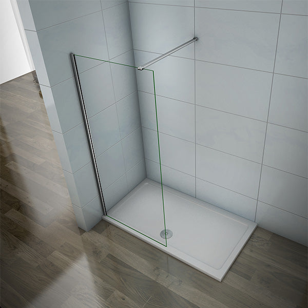 700-1400mm Walk in Wet Room Shower screen,8mm NANO glass,1850 1950 2000 Height