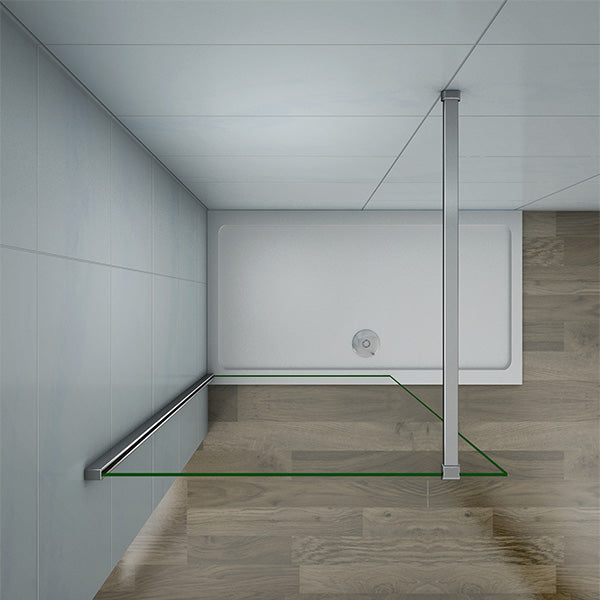 700-1400mm Walk in Wet Room Shower screen,8mm NANO glass,1950mm Height