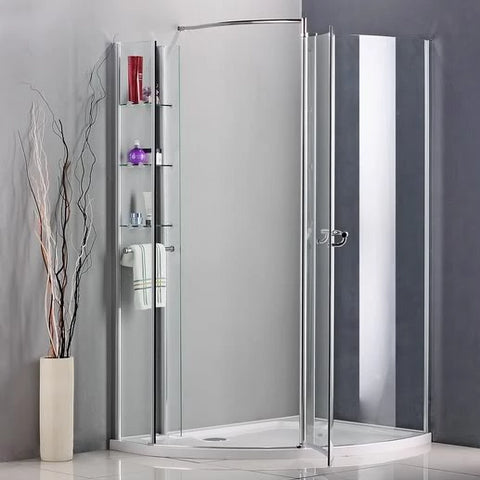 Walk In Shower Enclosure Pivot door Wet Room Cubicle with Stone Tray