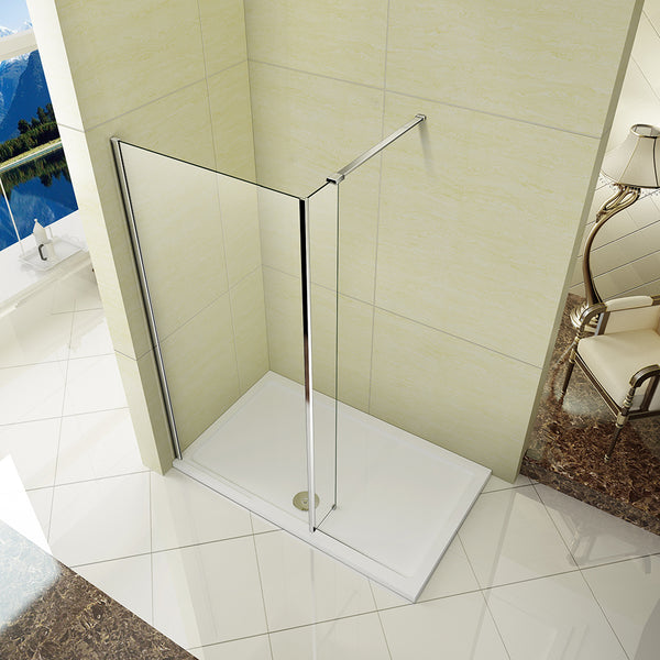 L Shape Wet Room Shower Screen,300mm Fixed Return Panel,shower enclosure
