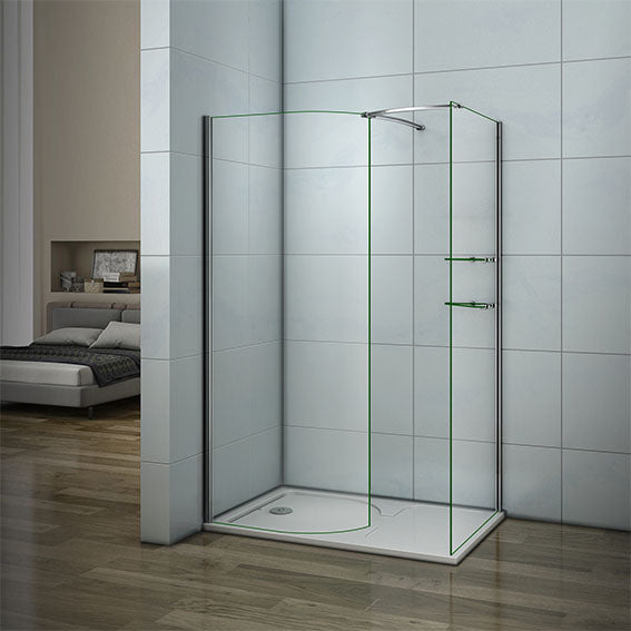 Wet Room Chrome Shower Enclosure Curved Screen Cubicle,Side panel,Tray Optional
