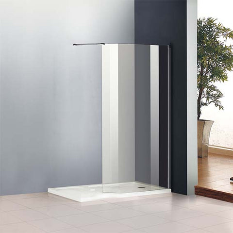 Chrome Curved Shower Enclosure Cubicle EasyClean glass,Tray Optional,1950mm Height