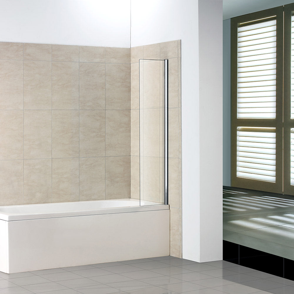 Fixed Panel Over Bath Shower Screen Water Deflector Square Cut 250 300 350mm