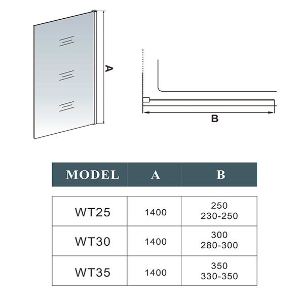 250*1400mm glass,Easyclean glass,Water Deflector