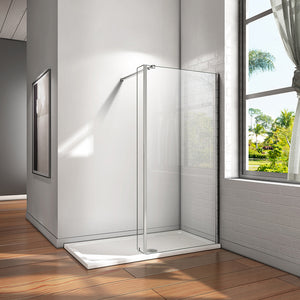 700-1400mm+250mm Wet Room Shower Screen,8mm NANO glass,2000mm Height