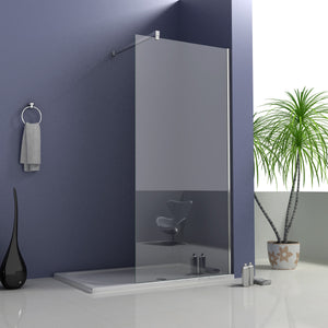 700-1400x1950mm Walk in Wet Room Shower screen, 8mm NANO glass