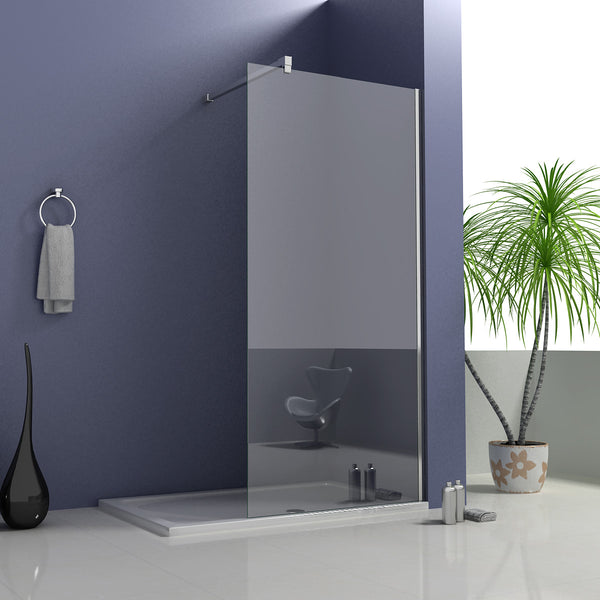1950mm Walk in Wet Room Shower screen, 8mm NANO glass 700-1400