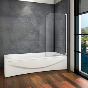 Aica 800x1400mm 90 degree Pivot Bath Shower Screen