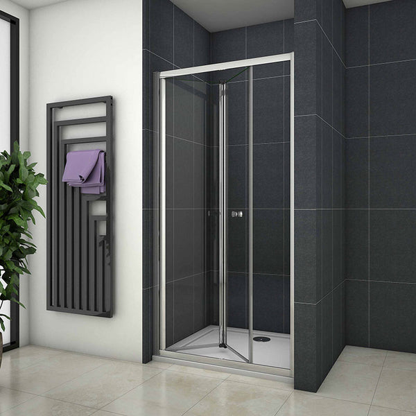 Bifold Shower Enclosure Cubicle Door 700-1000W x 1900H Stone Tray Optional
