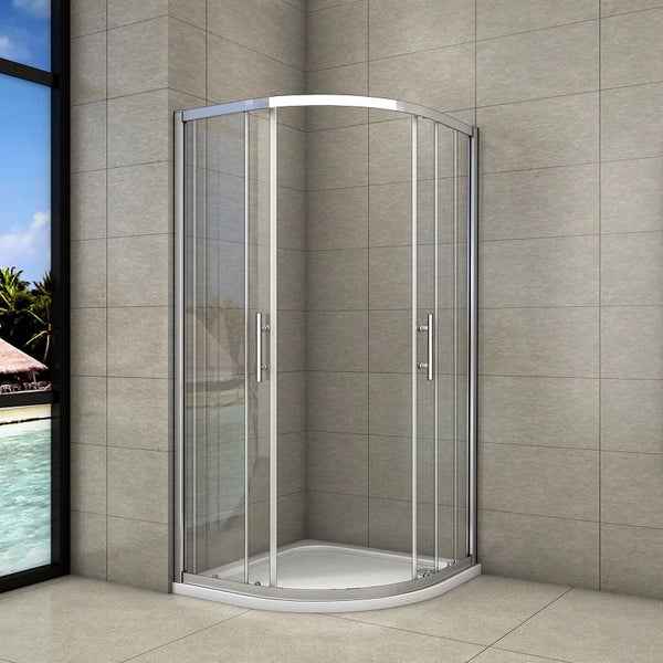 Chrome Quadrant Shower Enclosure shower cubicle 1900mm height