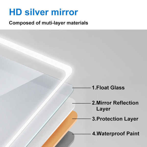 Heated Vanity Mirror with Lights-Single Touch,for Light up Bathroom