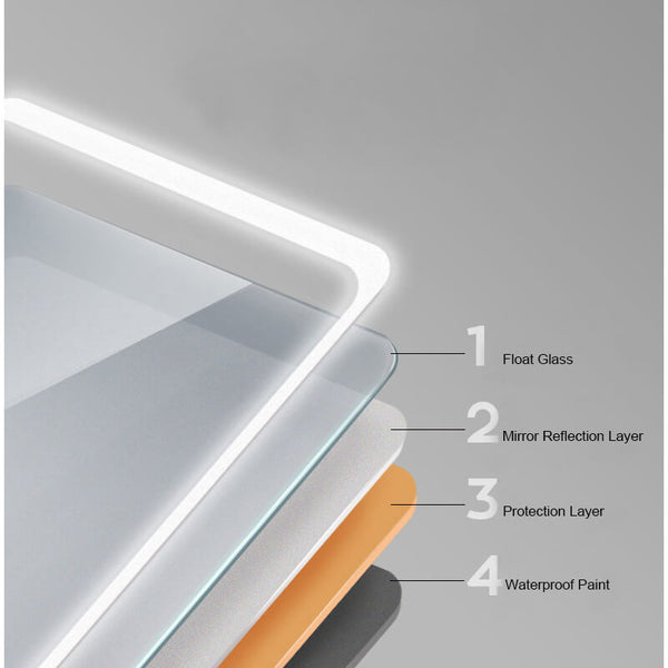 led-mirror-glass-layer