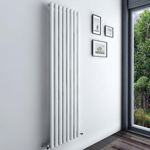 Oval Column Radiator White/Anthracite Vertical Designer Central Heated Rads