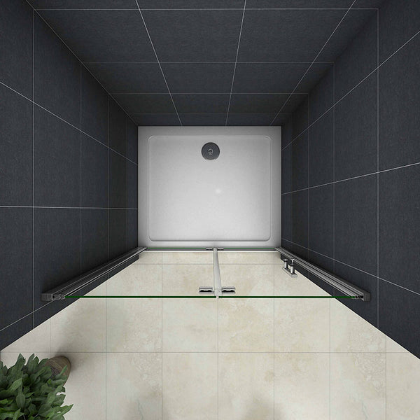 Bi fold Pivot shower door 1850H Frameless Bifold Shower enclosure + Shower Stone tray optional