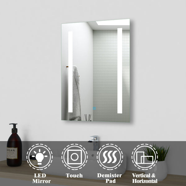 LED Illuminated Bathroom Mirrors with Demister Wall Mounted丨AICA