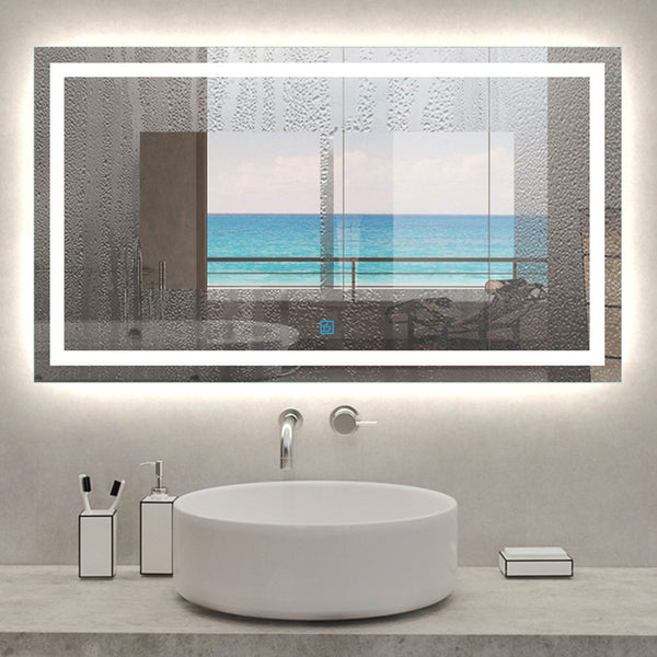 Large Size Bathroom Mirror with LED Lights,Demister