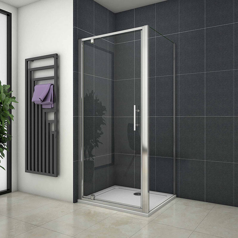1900mm H Chrome Pivot shower rectangle enclosures door 700-1000mm,side panel 700-900mm
