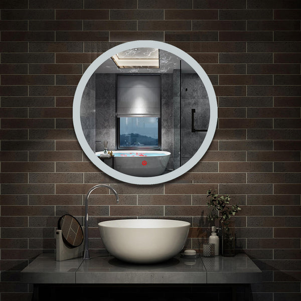 Bathroom Mirrors.Round Bathroom Mirrors With Lights Demister Touch 600x600 700x700