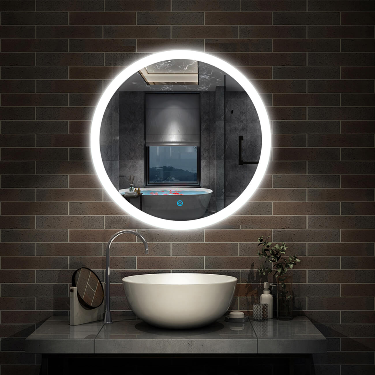 round-mirror-with-lights