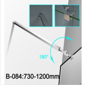 Aluminium zinc alloy support bar wet room screen walk in shower enclosure