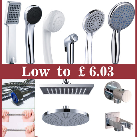 AICA Shower Head And Hose Square Round Overhead,Hand Shower,Hose,Spray gun ect Shower Set