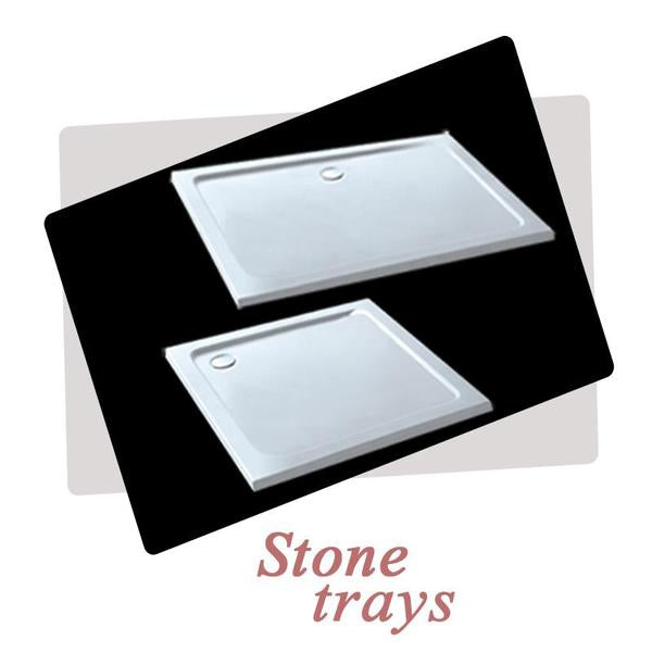 700-1000mm x1900mm Chrome bifold shower door, Shower Stone tray Optional