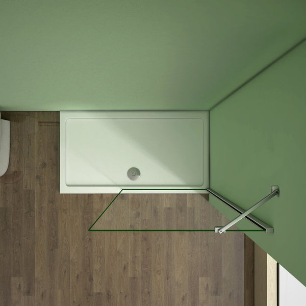 185cm height Walk in Screen wet room Shower Panel
