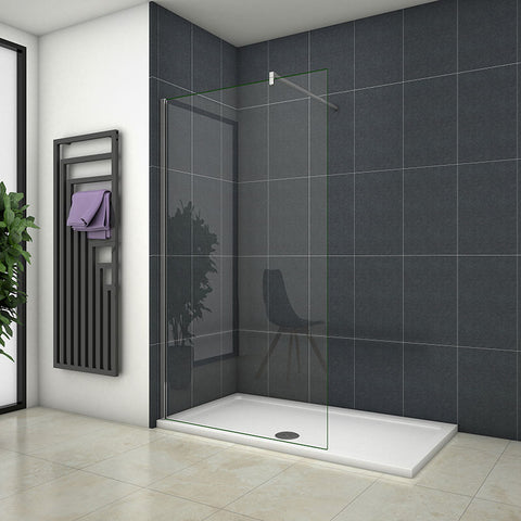700-1400mm Wet Room Shower Panel 8mm EasyClean glass Nano Easy Clean Clear Glass Tempered