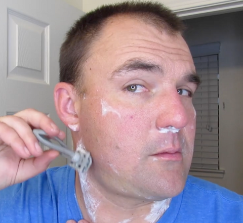 Flatten your neck to get a close shave!