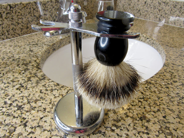 How to clean your shave brush: hang dry