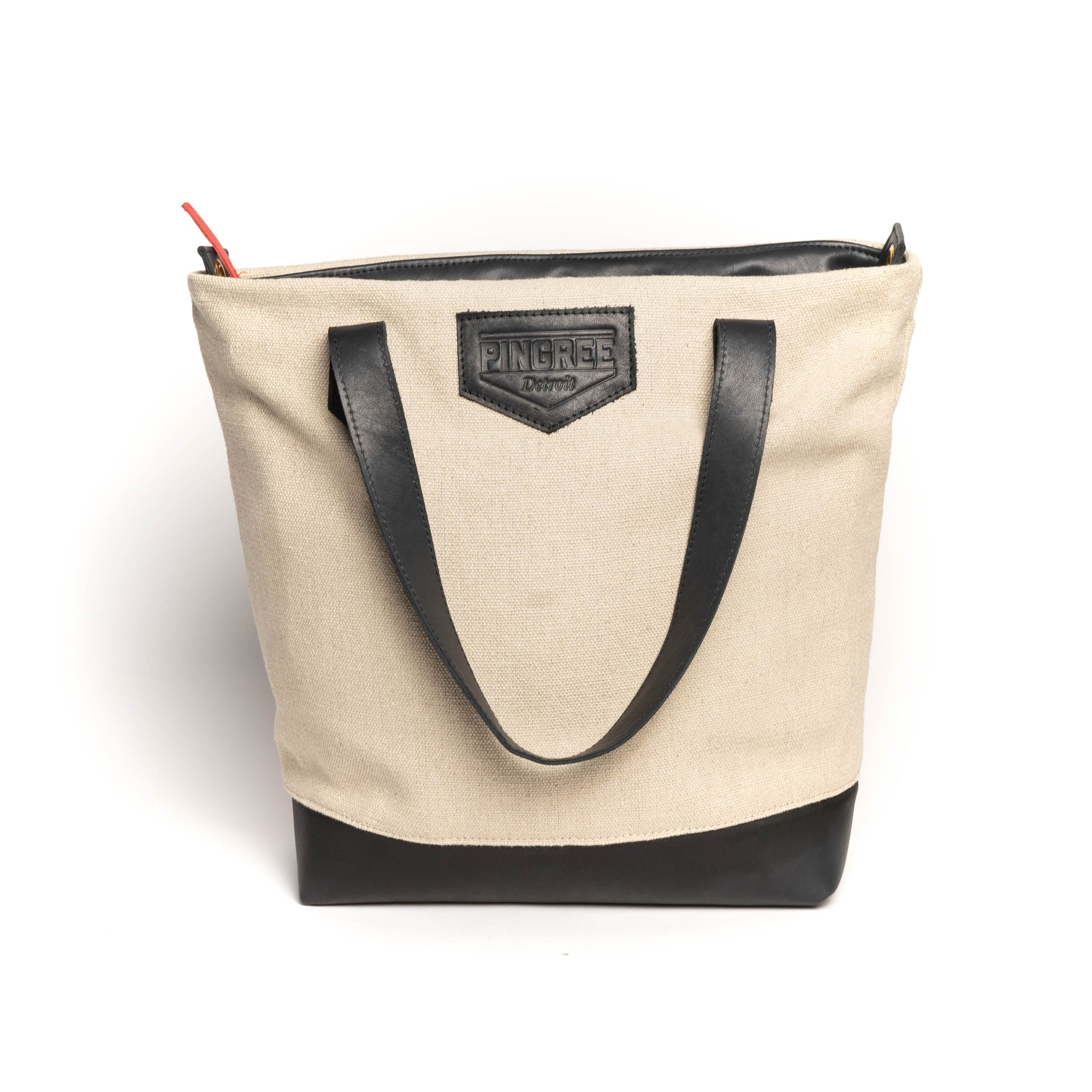 Hemp and Leather Tote, Natural