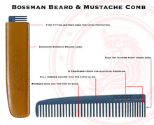 Load image into Gallery viewer, Bossman® Metal Beard & Mustache Comb
