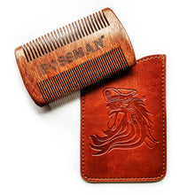 Load image into Gallery viewer, Bossman® Pocket Size Sandalwood Comb & Protective Case