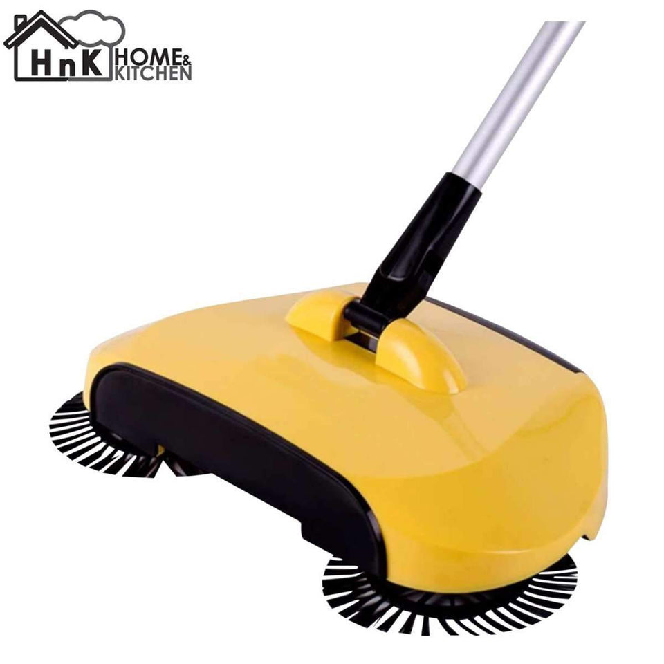 Lazy Automatic Sweeper Vacuum Cleaner Robot (Yellow)-Sulit Promos