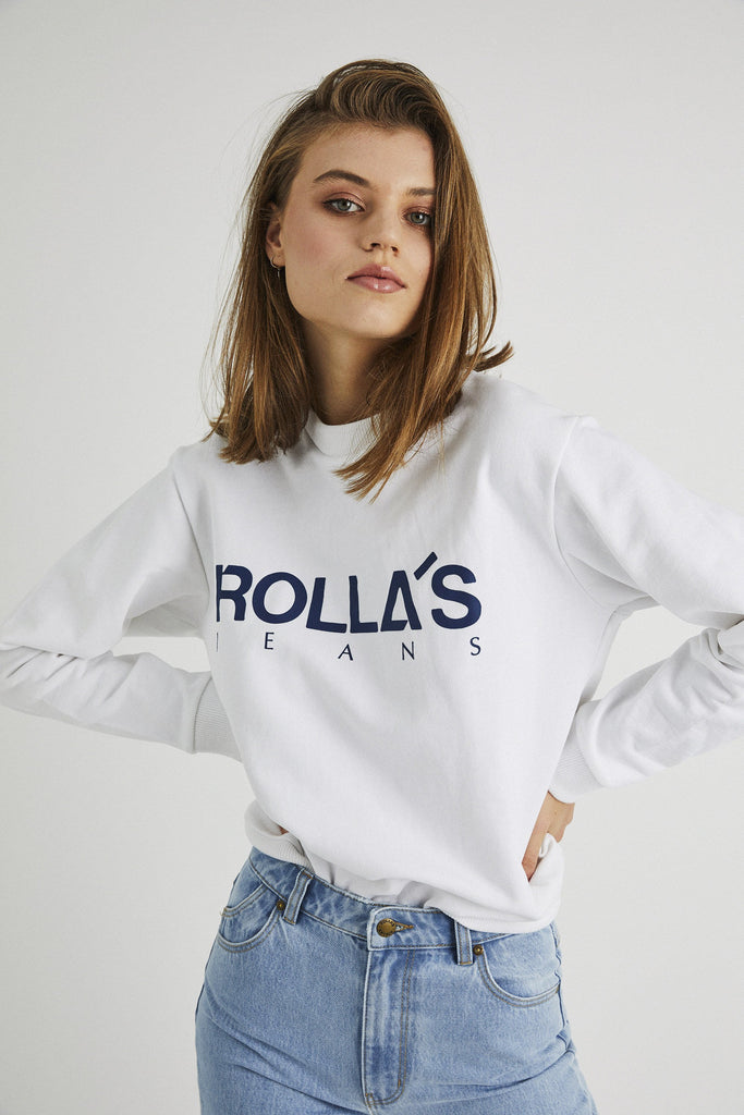 Vintage Logo Sweater - White