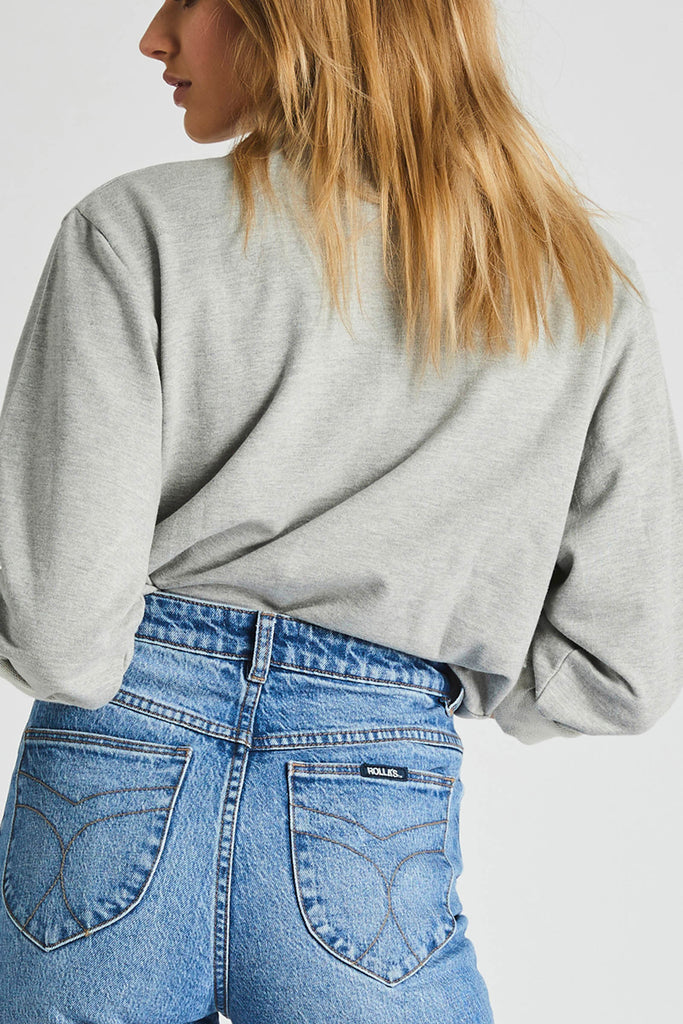 Vintage Logo Sweater - Grey Marle