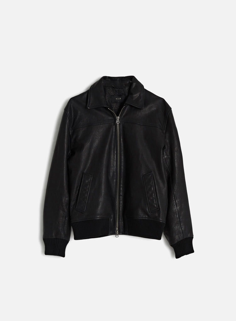 Heroes Leather Jacket - Black