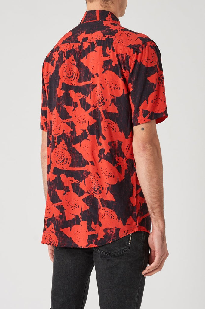 Floral SS Shirt - Red